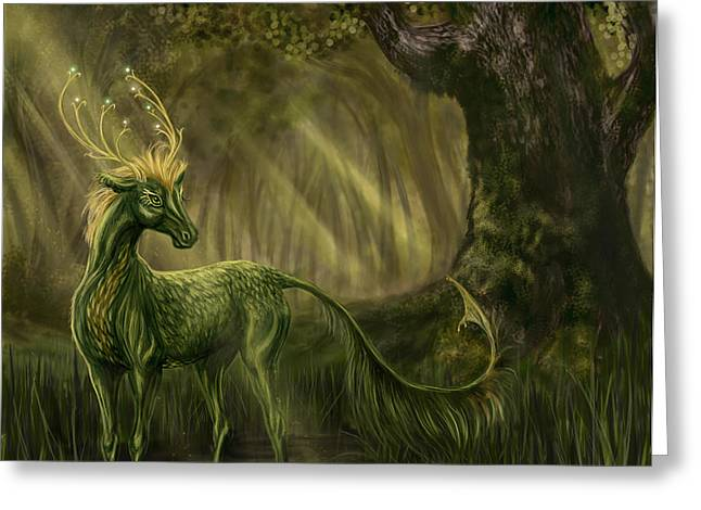 Katerina Romanova Greeting Cards - Once Upon a Time in a Forest Greeting Card by Katerina Romanova