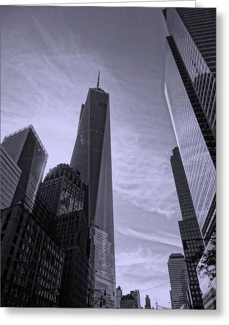 The Tourist Trade Greeting Cards - One World Trade Center Greeting Card by Dan Sproul