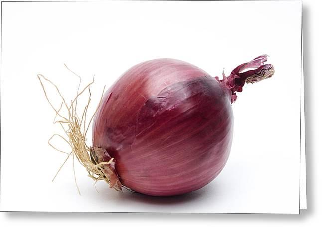 Vegetable Photographs Greeting Cards - Onion Greeting Card by Bernard Jaubert