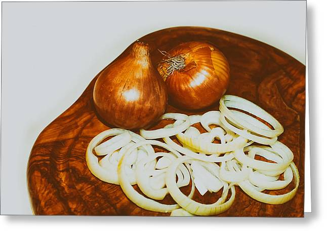 Pungent Greeting Cards - Onion Rings Greeting Card by Erb55