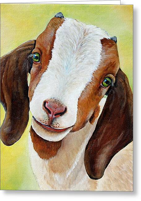 Zoo Greeting Cards - Opal Greeting Card by Laura Carey
