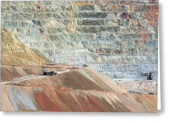 Open-cast Copper Mine Greeting Card by Jim West