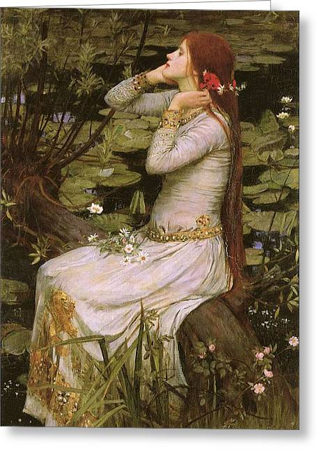 Romantic Realism Greeting Cards - Ophelia Greeting Card by Philip Ralley