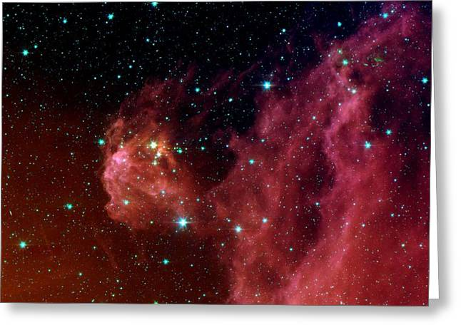 Hubble Space Telescope Mixed Media Greeting Cards - Orion Nebula Close-up Greeting Card by L Brown