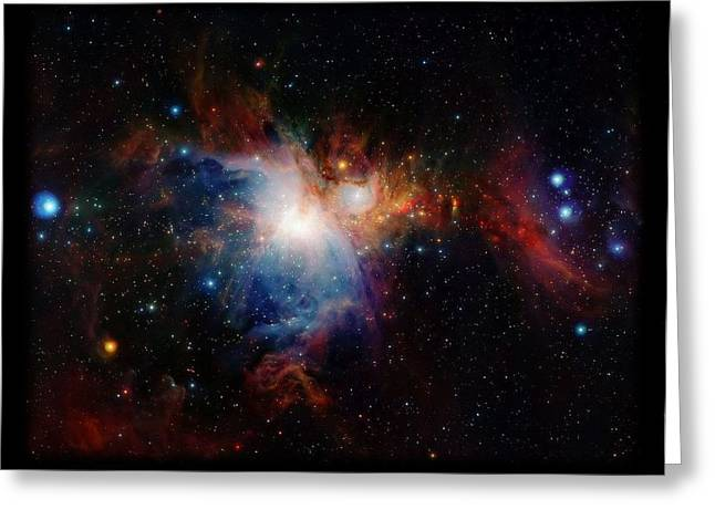 Observer Greeting Cards - Orion Nebula Greeting Card by L Brown