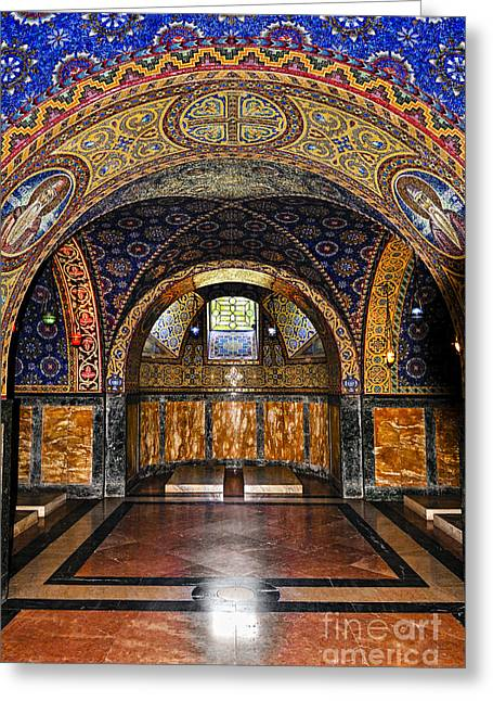 Mausoleum Greeting Cards - Orthodox Church interior Greeting Card by Elena Elisseeva