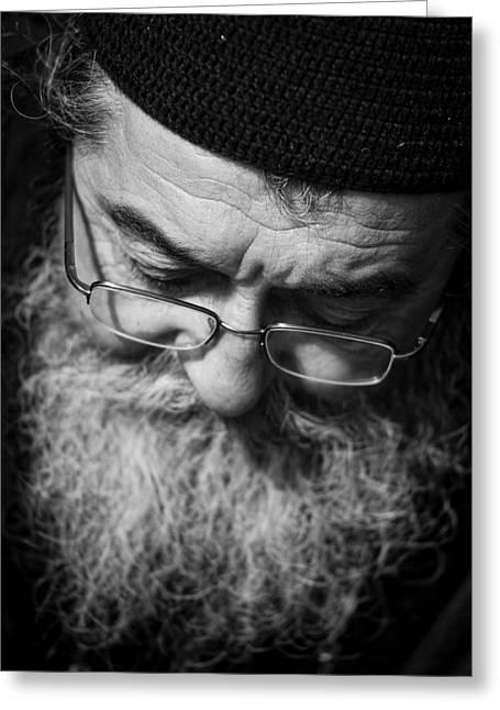 Isaac Silman Greeting Cards - Orthodox priest Greeting Card by Isaac Silman