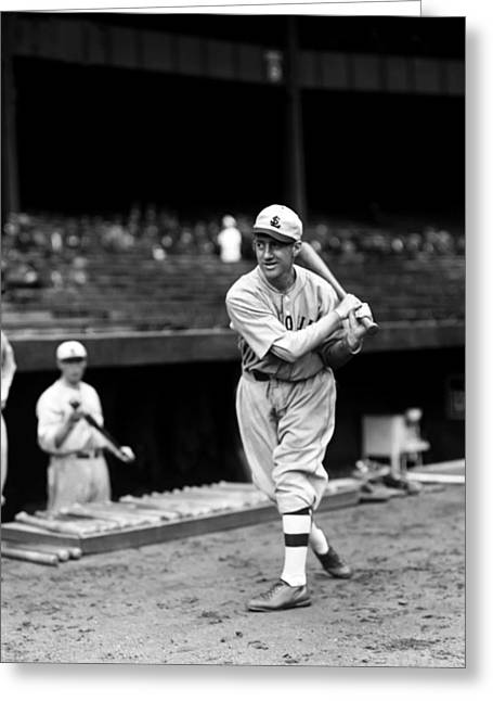 Second Baseman Greeting Cards - Oscar D. Ski Melillo Greeting Card by Retro Images Archive