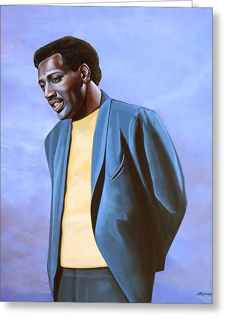 Otis Redding Painting Greeting Card by Paul Meijering