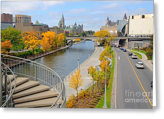 Ottawa Greeting Cards - Ottawa Autumn Greeting Card by Charline Xia