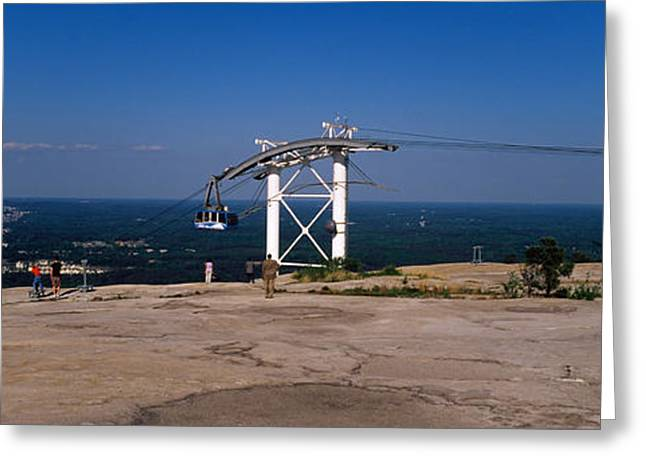 Fulton Greeting Cards - Overhead Cable Car On A Mountain, Stone Greeting Card by Panoramic Images