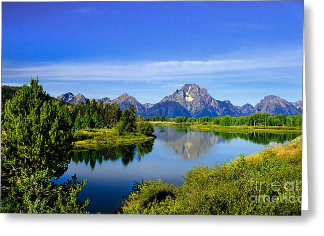 Haybales Greeting Cards - Oxbow Bend Greeting Card by Robert Bales
