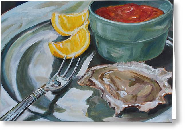 Kristine Greeting Cards - Oyster Appetizer Greeting Card by Kristine Kainer