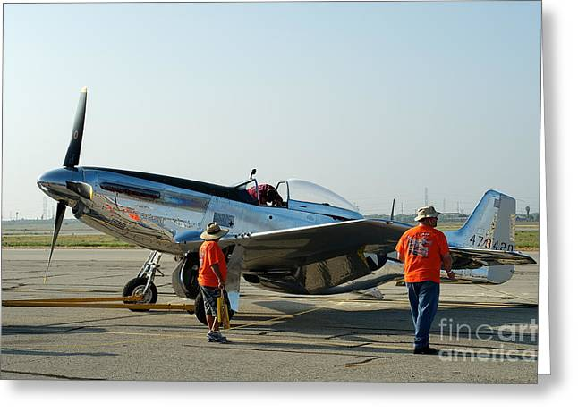 P-51 Photographs Greeting Cards - P-51  Mustang Greeting Card by Hank Taylor