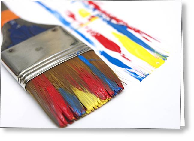 Paint It Greeting Cards - Paintbrush Greeting Card by Bernard Jaubert