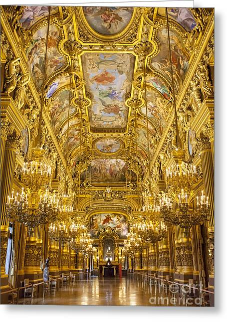 Balusters Greeting Cards - Palais Garnier Interior Greeting Card by Brian Jannsen