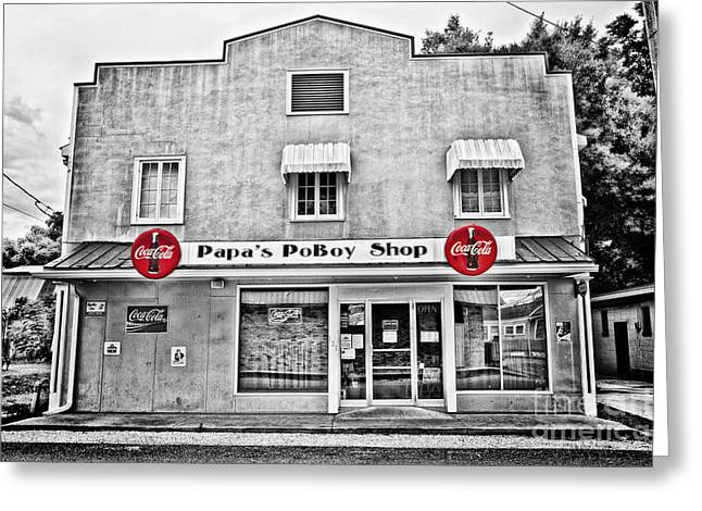 Papa's Poboy Shop Greeting Card by Scott Pellegrin