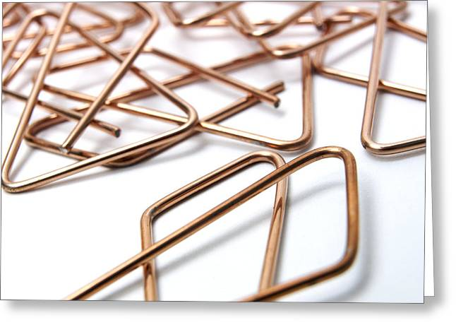 Clip Greeting Cards - Paper clip Greeting Card by Bernard Jaubert