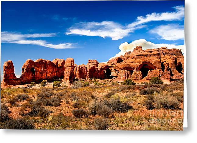 Monolith Greeting Cards - Parade of Elephants   Greeting Card by Robert Bales