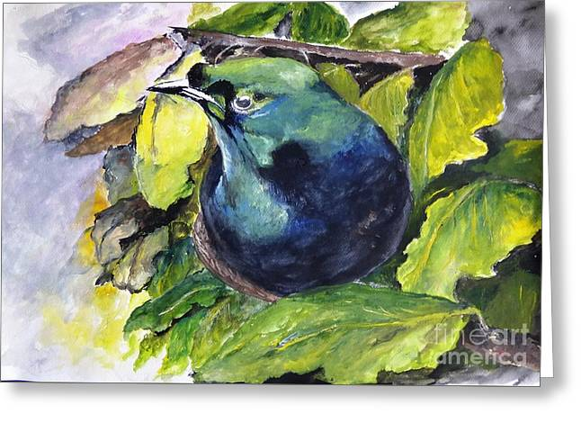 Mangrove Forest Greeting Cards - Paradise Bird Greeting Card by Jason Sentuf