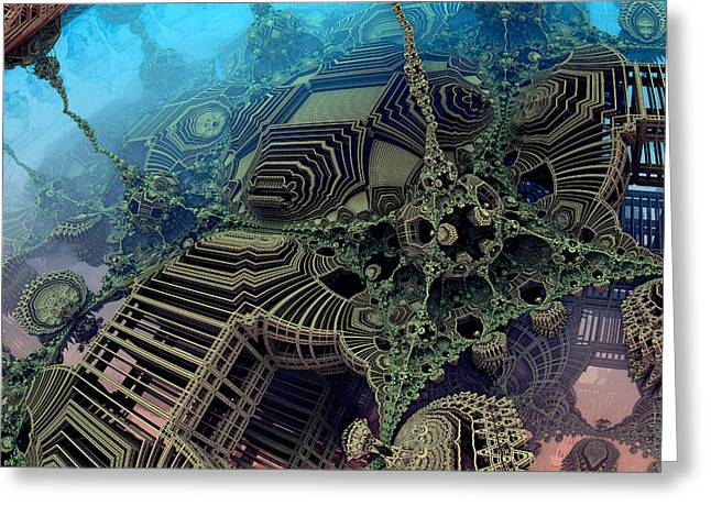 Fractal World Greeting Cards - Parallel World  Greeting Card by Evgeniy Lankin