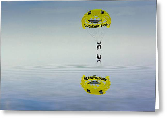 My Ocean Greeting Cards - Parasailing Greeting Card by Kevin Cable