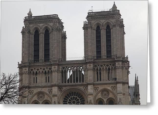 Figure Greeting Cards - Paris France - Notre Dame de Paris - 01133 Greeting Card by DC Photographer