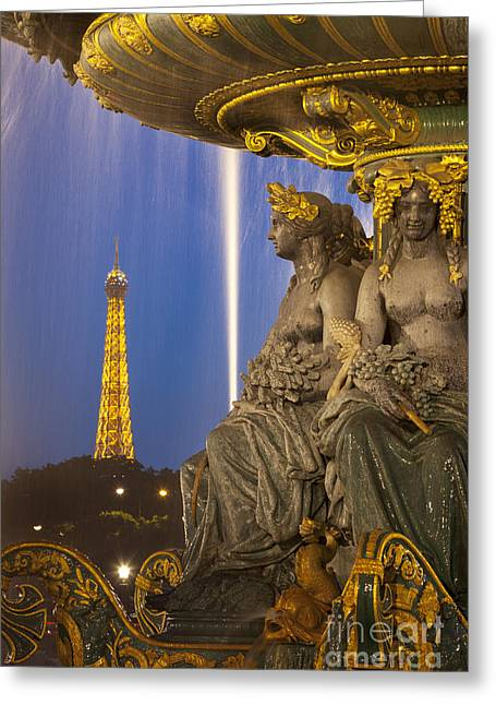 Art Of Building Greeting Cards - Paris Twilight Greeting Card by Brian Jannsen