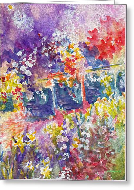French Open Digital Greeting Cards - Parisian Floral Greeting Card by Kathy Bassett