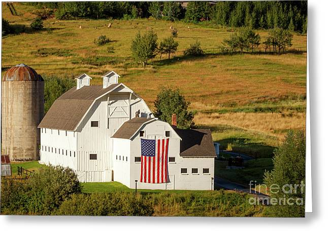 White Barns Greeting Cards - Park City Barn Greeting Card by Brian Jannsen