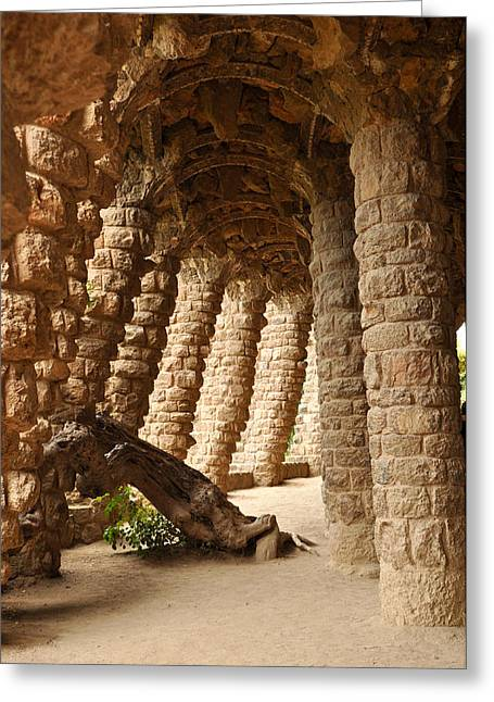 Catalunya Photographs Greeting Cards - Park Guell Barcelona Spain Greeting Card by Brandon Bourdages