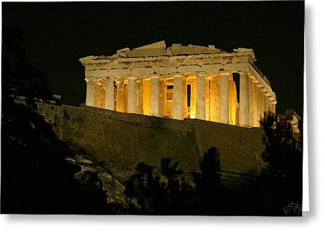 Greek Ruins Greeting Cards - Parthenon Greeting Card by Ellen Henneke
