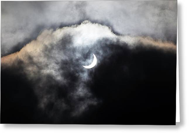 Partial Solar Eclipse Greeting Card by Laurent Laveder
