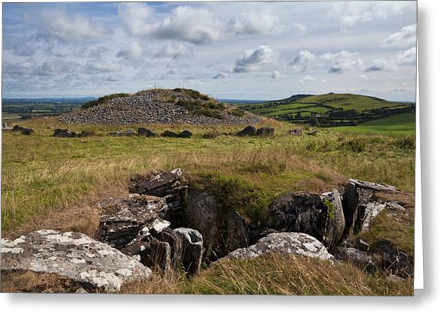 Megalithic Greeting Cards - Passage Grave,carbane West, Loughcrew Greeting Card by Panoramic Images