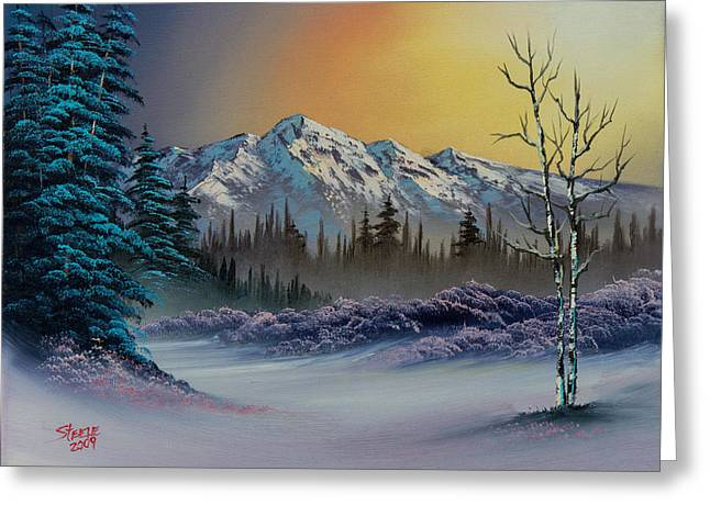 Frosty Enchantment Greeting Card by C Steele