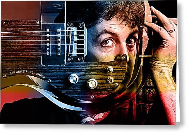 Paul Greeting Cards - Paul McCartney Greeting Card by Marvin Blaine