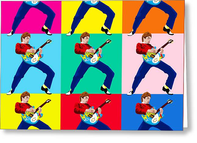Paul Weller Wham Greeting Card by Neil Finnemore