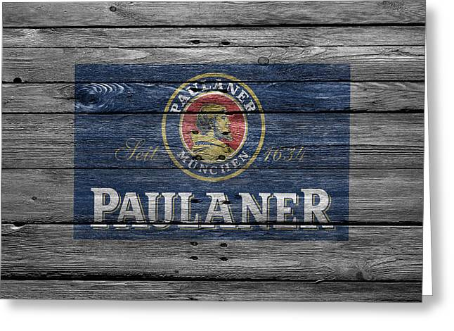 Saloons Greeting Cards - Paulaner Greeting Card by Joe Hamilton