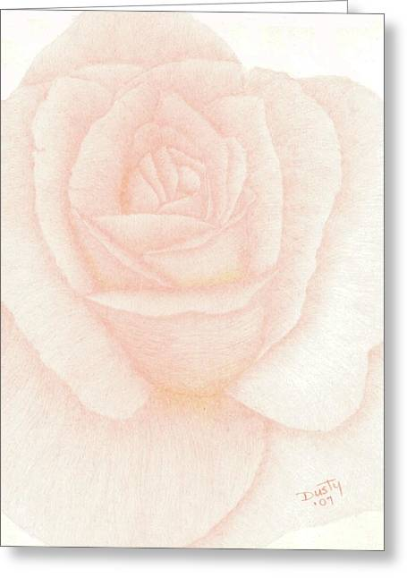 Powder Drawings Greeting Cards - Peach Puff Greeting Card by Dusty Reed