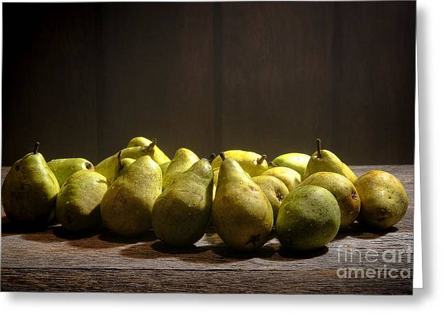 Bartlett Greeting Cards - Pears Greeting Card by Olivier Le Queinec