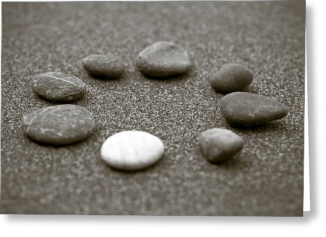 Circular Circle Circles Greeting Cards - Pebbles Greeting Card by Frank Tschakert