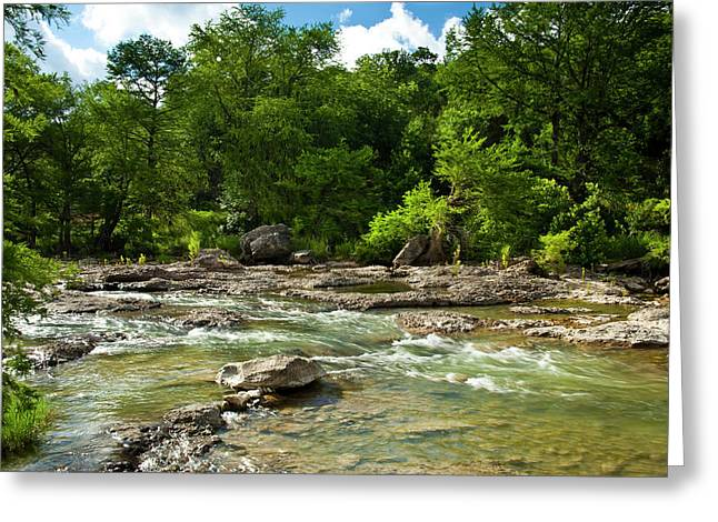 Pedenales River On A Fine Summer Morning Greeting Card by Mark Weaver