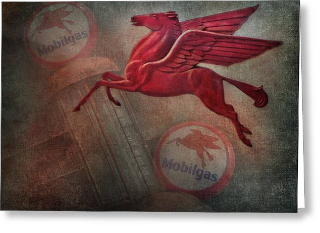 Pegasus Greeting Card by David and Carol Kelly