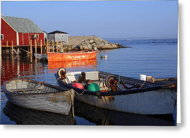 Fishing Boats Greeting Cards - Peggys Cove Greeting Card by Robin Clarke