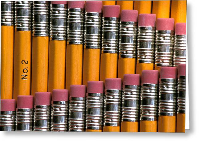 Number Of Objects Greeting Cards - #2 Pencils  Standing Up Greeting Card by Anonymous