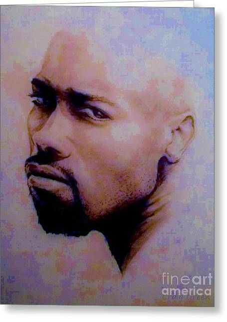 Pensive Mixed Media Greeting Cards - Pensive Look Greeting Card by Craig Green