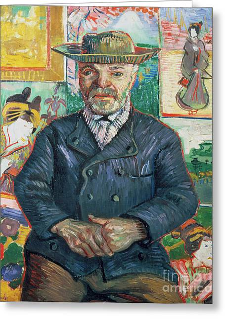 Van Gogh Cards Greeting Cards - Pere Tanguy Greeting Card by Vincent van Gogh