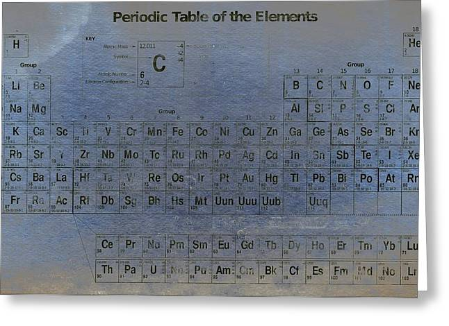 Periodic Table Of The Elements Greeting Card by T Lang