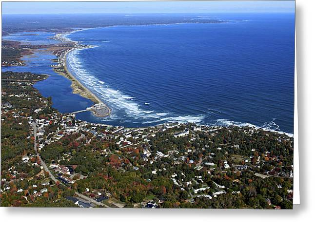 Perkins Cove, Ogunquit Beach, Ogunquit Greeting Card by Dave Cleaveland