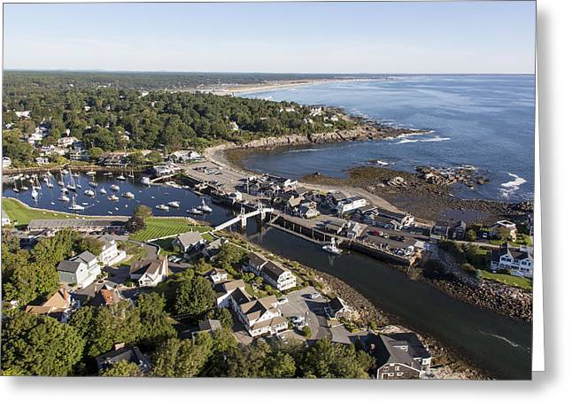 Recently Sold -  - Coastal Maine Greeting Cards - Perkins Cove, Ogunquit Greeting Card by Dave Cleaveland
